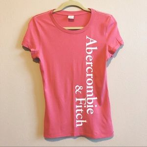 A&F Pink Fitted Graphic Tee